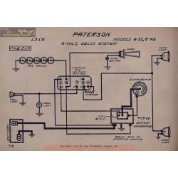 Paterson 4 32 6 48 6volt Schema Electrique 1915 Delco V2