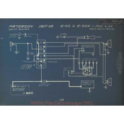 Paterson 6 4 45r 46 Schema Electrique 1917 1918 1919 Delco