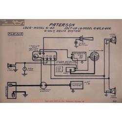 Paterson 6 42 45 45r 6volt Schema Electrique 1916 1917 1918 1919 Delco V2