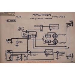 Pathfinder One B 6volt Schema Electrique 1916 Delco