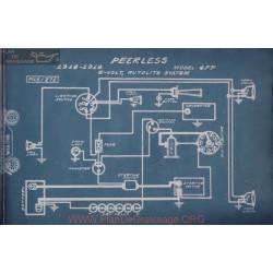 Peerless 4ff 6volt Schema Electrique 1918 1919 Autolite
