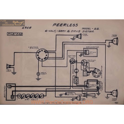 Peerless 55 6volt Schema Electrique 1915 Gray & Davis