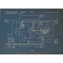 Peerless 55 Schema Electrique 1915 Gray& Davis