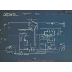 Peerless 56 57 Ff Schema Electrique 1916 Gray & Davis