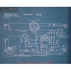 Peerless 56 57 Ff Schema Electrique 1916