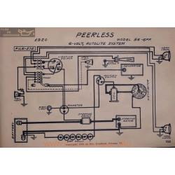 Peerless 56 6ff 6volt Schema Electrique 1920 Autolite V2