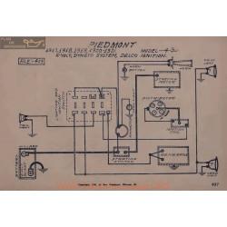 Piedmont 4 30 6volt Schema Electrique 1917 1918 1919 1920 1921 Dyneto Delco