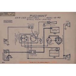 Piedmont 6 40 6volt Schema Electrique 1918 1919 190 1921 Remy