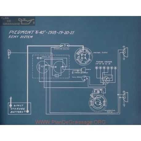 Piedmont 6 40 Schema Electrique 1918 1919 1920 1921