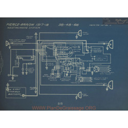 Pierce Arrow 348 48 66 Schema Electrique 1917 1918 Westinghouse