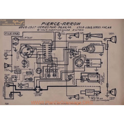 Pierce Arrow 38 48 66 Five 6volt Schema Electrique 1916 1917 1918 1919 Westinghouse