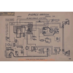 Pierce Arrow 38 6volt Schema Electrique 1921 Delco