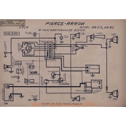 Pierce Arrow 38 C2 48 B2 6volt Schema Electrique 1914 Westinghouse