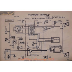 Pierce Arrow 38 C3 48 B3 6volt Schema Electrique 1915 Westinghouse V2