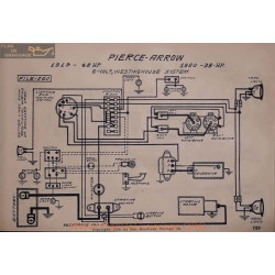 Pierce Arrow 48 38 Hp 6volt Schema Electrique 1919 1920 Westinghouse V2