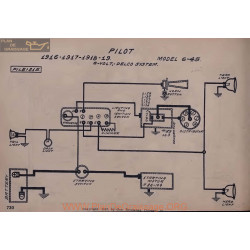 Pilot 6 45 6volt Schema Electrique 1916 1917 1918 1919 Delco V2