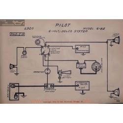 Pilot 6 45 6volt Schema Electrique 1920 Delco