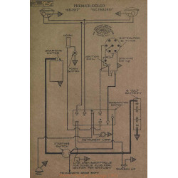 Premier 6b 6c Schema Electrique 1917 1918 1919 Delco V2