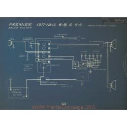 Premier 6b 6c Schema Electrique 1917 1918 1919 Delco