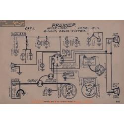 Premier 6d After 1350 6volt Schema Electrique 1921 Delco
