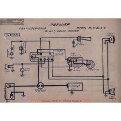 Premier B6 B6 C6 6volt Schema Electrique 1917 1918 1919 Delco