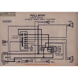 Pullman 16volt Schema Electrique 1913 North East