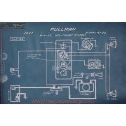Pullman 4 24 6volt Schema Electrique 1917 Splitdorf