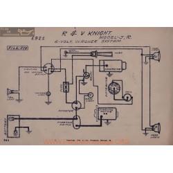 R&v Knight J R 6volt Schema Electrique 1921 Wagner