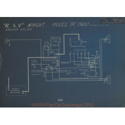 R&v Knight R Schema Electrique 1920 Wagner