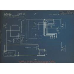 Regal J Schema Electrique 1917 1918 Autolite