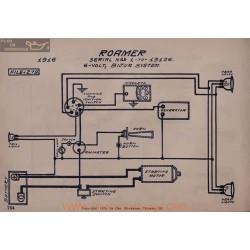 Roamer 1 A 13126 6volt Schema Electrique 1916 Bijur