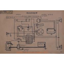 Roamer 475e 6volt Schema Electrique 1921 Westinghouse