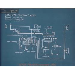 Roamer 6 54 E Schema Electrique 1922