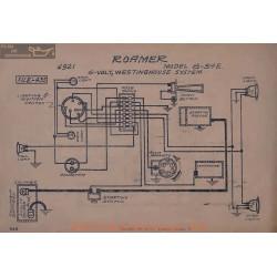Roamer 6 54e 6volt Schema Electrique 1921 Westinghouse
