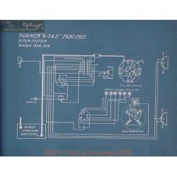 Roamer 6 54e Schema Electrique 1920 1921