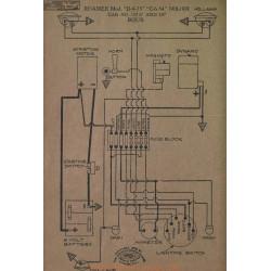 Roamer D 4 75 C 6 54 15737 Schema Electrique 1918 1919 Bijur