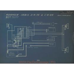 Roamer D 4 75 C 6 54 Schema Electrique 1918 1919 Bijur Bosch