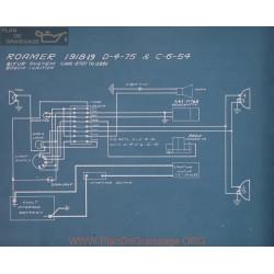 Roamer D 4 75 C 6 54 Schema Electrique 1918 1919