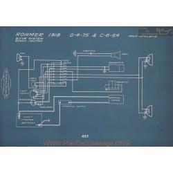 Roamer D 4 75 C 6 54 Schema Electrique 1918