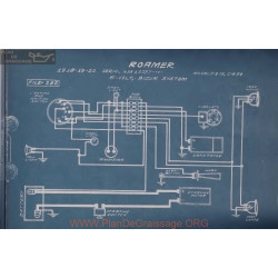 Roamer D4 25 C6 54 6volt Schema Electrique 1918 1919 1920 Bijur