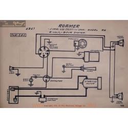 Roamer Ra 13127 A 14004 6volt Schema Electrique 1917 Bijur