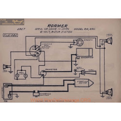 Roamer Ra Rac 14005 A 15736 6volt Schema Electrique 1917 Bijur