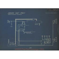 Saxon 125 Schema Electrique 1920 Gray & Davis