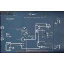 Saxon 5 S 6volt Schema Electrique 1916 Gray & Davis