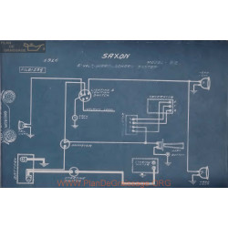 Saxon 52 6volt Schema Electrique 1916 Ward Leonard