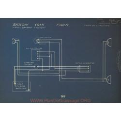 Saxon Four Schema Electrique 1915 Nard Leonard