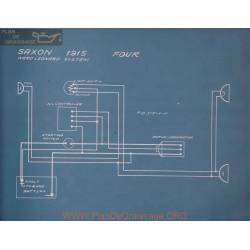 Saxon Four Schema Electrique 1915
