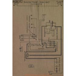Saxon Four Schema Lectrique 1916 1917 Wagner