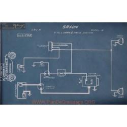 Saxon S 6volt Schema Electrique 1915 Gray & Davis