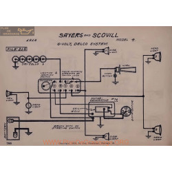 Sayers And Scovill 4 6volt Schema Electrique 1916 Delco